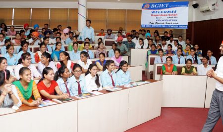 BGIET ORGANIZED A MOTIVATIONAL LECTURE