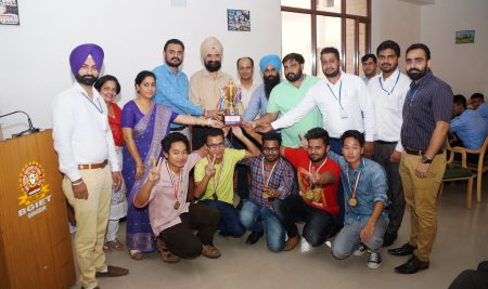 BGIET STUDENTS BAGGED WINNER TROPHY IN MRSSTU DAY INTER COLLEGE CHESS TOURNAMENT