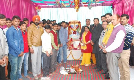 SARASVATI PUJA ORGANISED ON THE EVE OF BASANT PANCHAMI IN BHAI GURDAS GROUP OF INSTITUTIONS